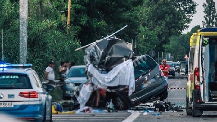 O familie de MOLDOVENI, implicată într-un accident în Italia. Tata și fiica AU MURIT, iar mama și trei copii sunt în STARE GRAVĂ (VIDEO)