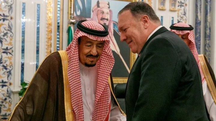 Pompeo a făcut o vizită în Arabia Saudită unde a discutat cu regele Salman şi prinţul moştenitor despre Iran