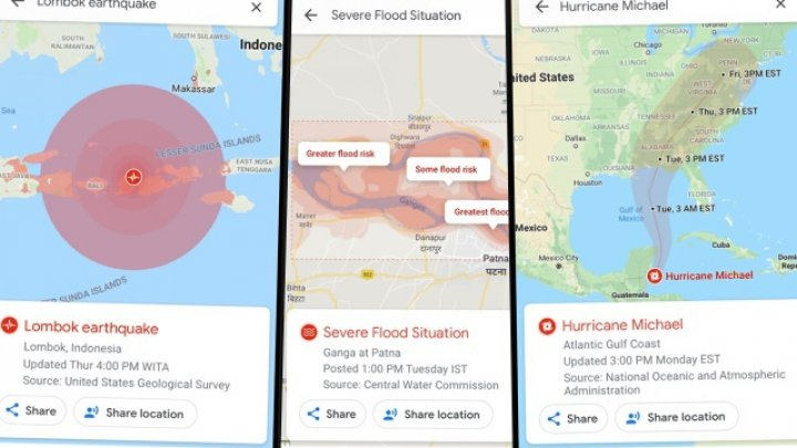 Google Maps va putea afişa alerte pentru dezastre şi calamităţi naturale similare informărilor din trafic