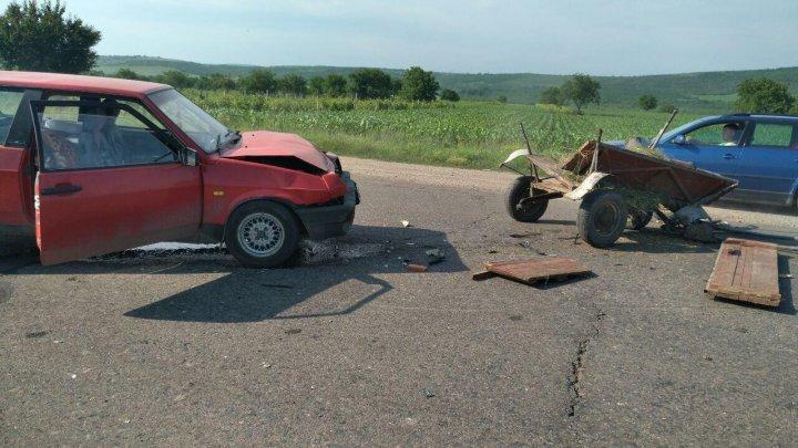 Accident violent în apropiere de satul Prepeliţa. O persoană, transportată la spital (FOTO)