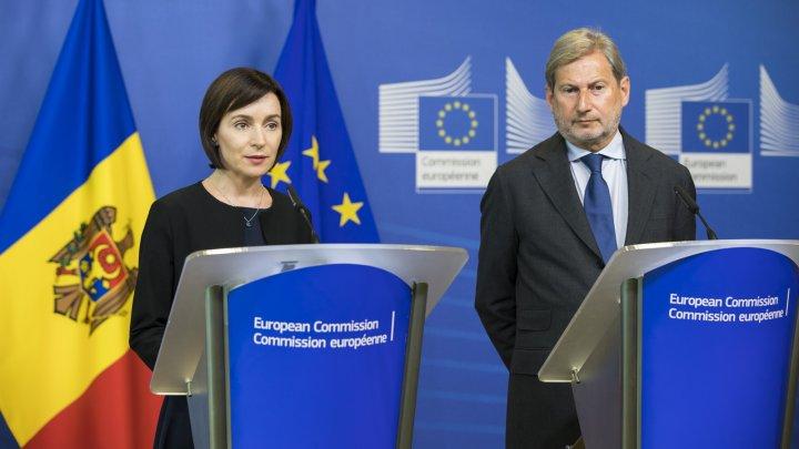 Johannes Hahn după întrevederea cu Maia Sandu: Suportul financiar al UE va fi reluat dacă cele 28 de condiții negociate de Guvernul Filip vor fi implementate