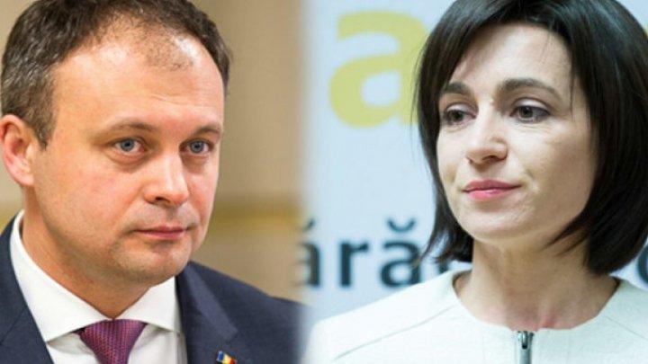 La inaugurarea bașcanului Găgăuziei: Andrian Candu a vorbit în limba română, Maia Sandu a preferat să vorbească doar în rusă (VIDEO)