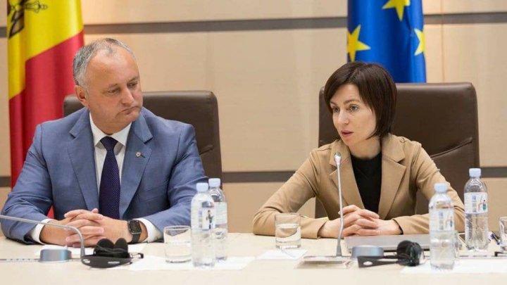 Maia Sandu, la raport în fața președintelui Igor Dodon