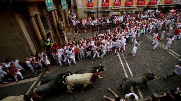 Au început cursele cu tauri la Pamplona. Cinci oameni au fost răniți în prima zi a festivalului
