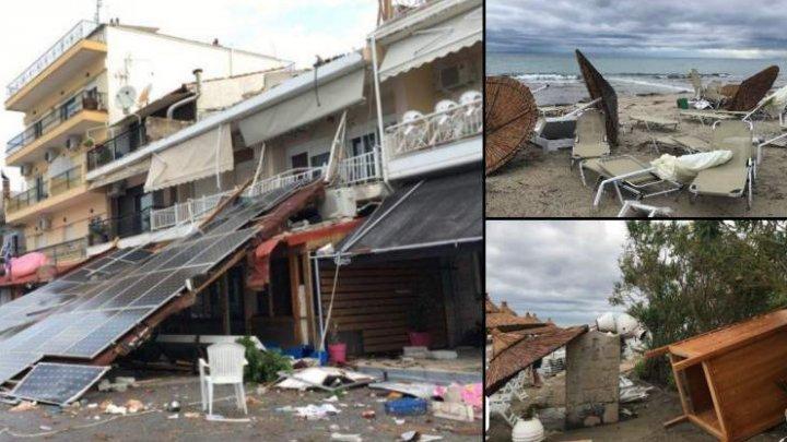 Scene de groază în Halkidiki. O moldoveancă care era în vacanţă spune că turiştii sunt speriaţi: Case fără acoperişuri, drumuri blocate, piloni căzuţi