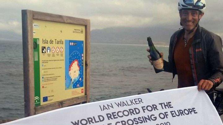 Un britanic a doborât recordul pentru cea mai rapidă traversare cu bicicleta a Europei