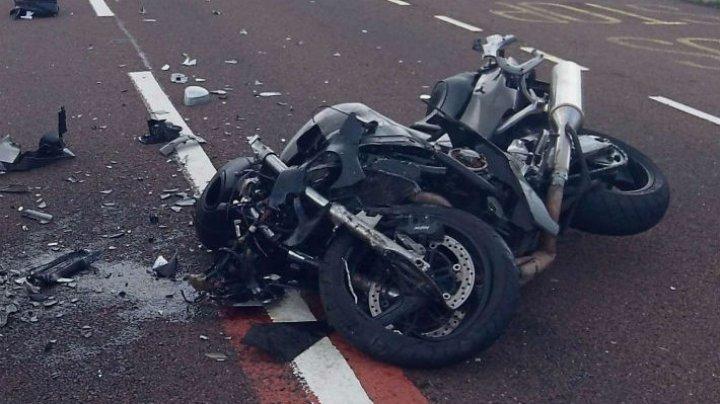 ACCIDENT GRAV în raionul Ungheni. Un motociclist se zbate între viaţă şi moarte