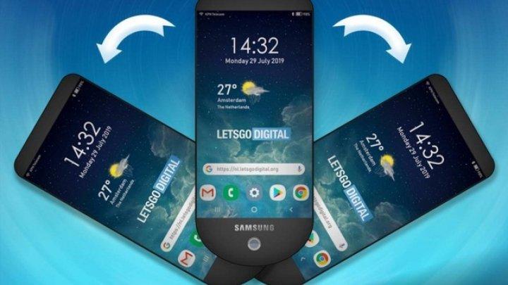 Samsung brevetează un telefon de tip evantai, cu 3 display-uri