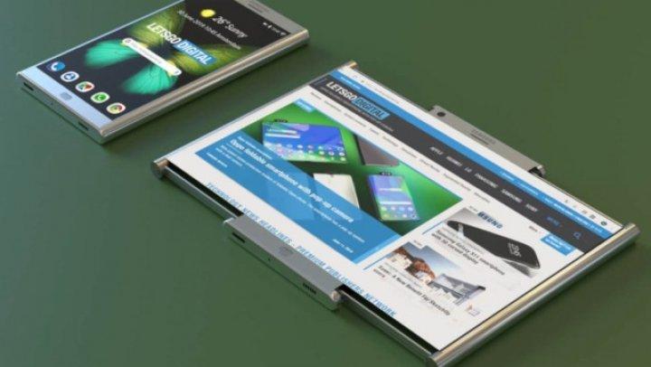 Samsung ar putea lansa şi un smartphone cu ecran expandabil, care se rulează în interiorul carcasei