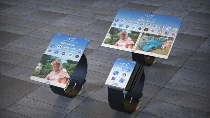 IBM propune un ceas cu ecran extensibil care poate fi transformat în telefon sau tabletă