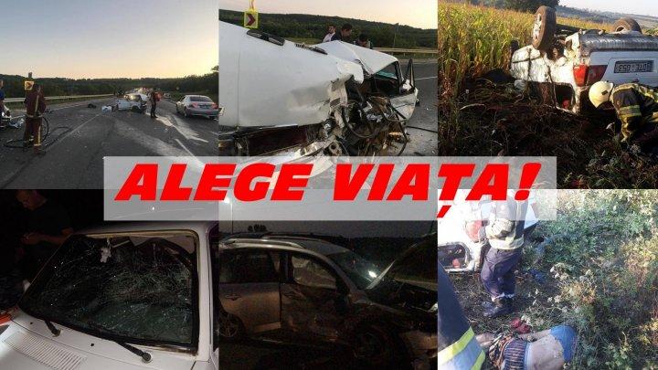 Două persoane au decedat şi zeci de oameni au fost răniţi în urma accidentelor rutiere produse în weekend, pe traseele din Moldova