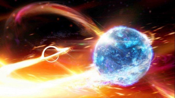 Savanții au descoperit prima gaură neagră care înghite o stea cu neutroni