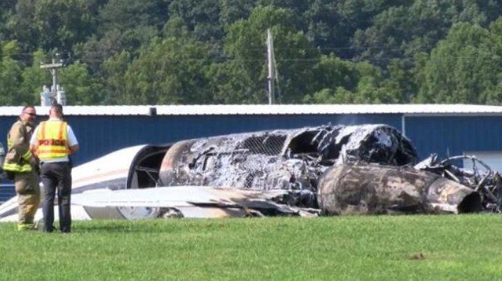 Un avion privat de mici dimensiuni s-a prăbuşit în apropierea unui aeroport din Tennessee