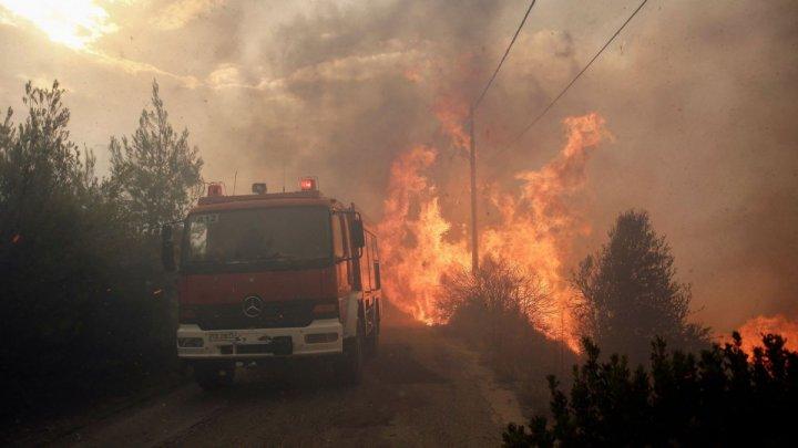 Incendiu de pădure în Grecia. Sute de turişti de pe insula Samos, evacuați