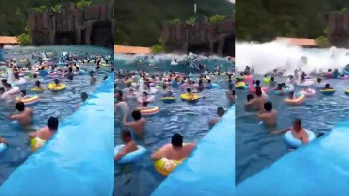 Clipe de groază: 44 de răniţi, după ce într-o piscină s-a format un tsunami de 3 metri