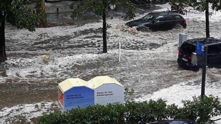 """Fenomen meteo rar: În nordul Italiei a """"nins"""" în mijlocul verii"""