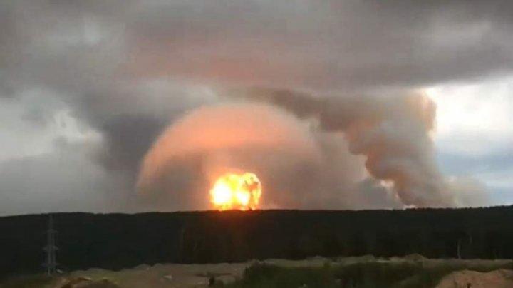 Momentul în care racheta nucleară din Rusia a explodat, în regiunea Arhanghelsk (VIDEO)