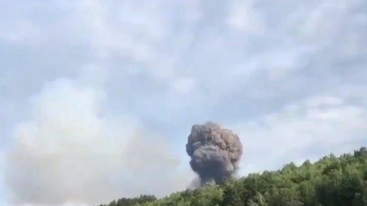 Explozie la un depozit de muniţii în Siberia: şapte răniţi şi mai multe localităţi evacuate (VIDEO)