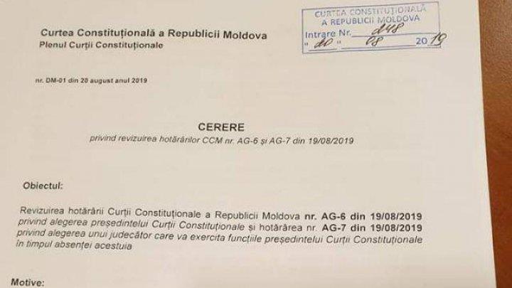 Domnica Manole cere revizuirea hotărârii prin care Vladimir Ţurcan a fost numit preşedinte al CC (DOC)