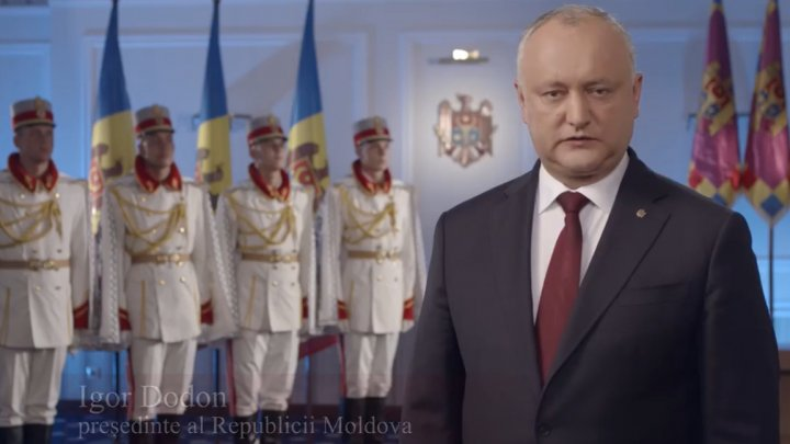 Mesajul lui Igor Dodon cu ocazia Zilei Independenței Republicii Moldova (VIDEO)
