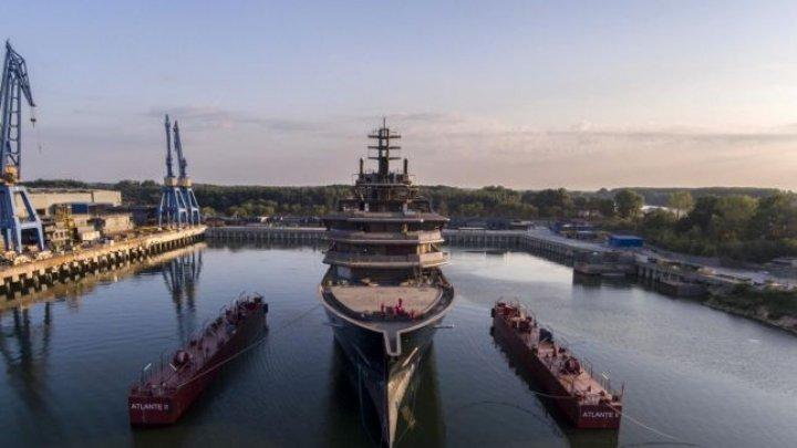 Cel mai mare yacht de expediţie din lume a fost lansată la apă la Tulcea, România