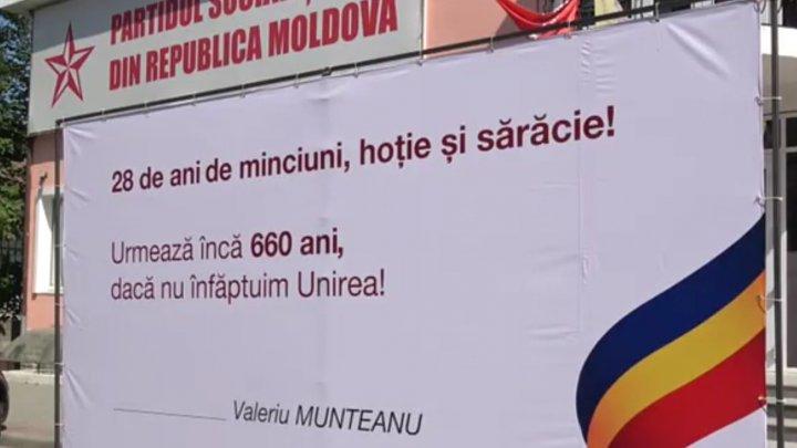 Uniunea Salvați Basarabia protestează: Adevărata independență față de Rusia este Unirea cu România
