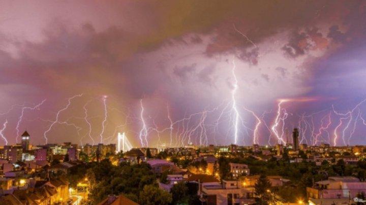 Capitala României, lovită de furtună. Zeci de copaci au fost doborâți la pământ