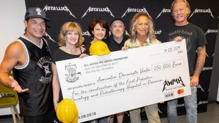 Suma uriaşă pe care a donat-o trupa Metallica pe parcursul a 25 de concerte susţinute în Europa