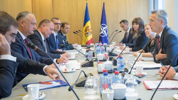 Stoltenberg la întrevederea cu Igor Dodon: NATO susține și respectă neutralitatea constituțională a Republicii Moldova