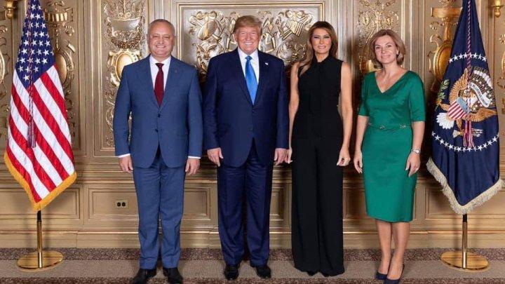 Igor Dodon la New York: A dat mâna cu Iohannis şi s-a fotografiat cu Trump