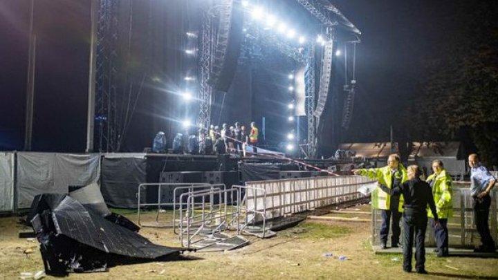 Clipe de groază: Mai multe persoane au fost rănite, după ce un perete cu ecrane LED s-a prăbuşit, la un concert în Germania (FOTO)