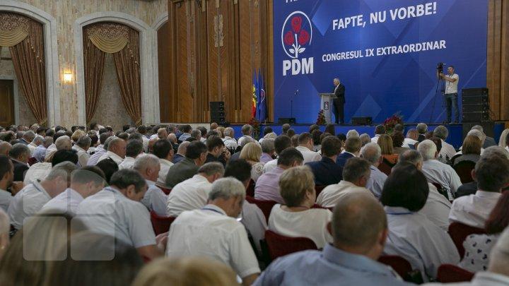 Partidul Democrat din Moldova își decide viitorul. Are loc Congresul extraordinar al formațiunii (LIVE)