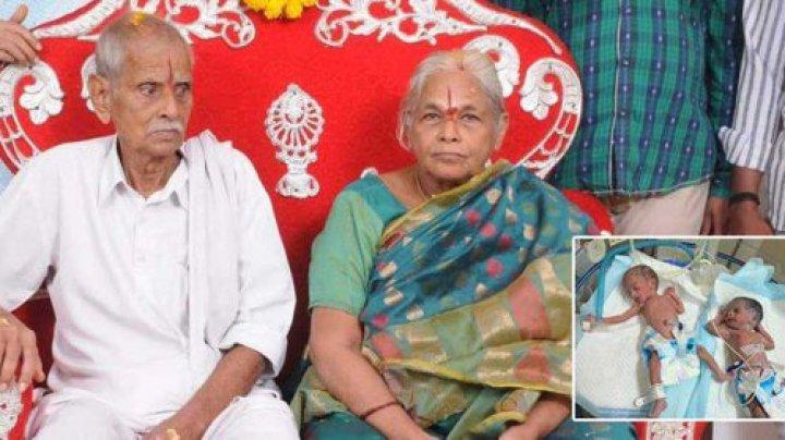 UIMITOR! O indiancă a devenit, la 74 de ani, cea mai în vârstă femeie din lume care a născut gemeni