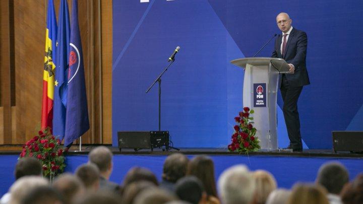 Pavel Filip a fost ales în funcția de președinte al Partidului Democrat din Moldova