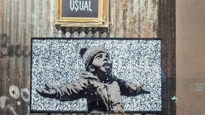 Artistul stradal Banksy a deschis un magazin efemer în sudul Londrei pentru a-şi apăra arta