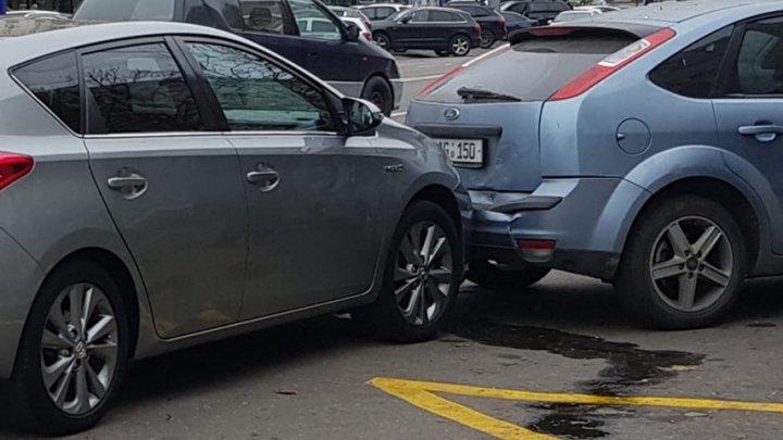 Accident în sectorul Botanica al Capitalei. Două mașini s-au ciocnit violent (VIDEO)