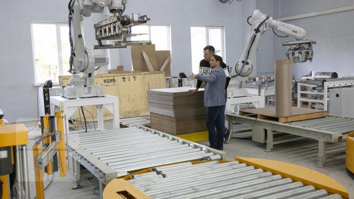 Cum arată o întreprindere, la care muncesc doar roboţi-moldoveni. FOTOREPORT de la o linie de împachetare