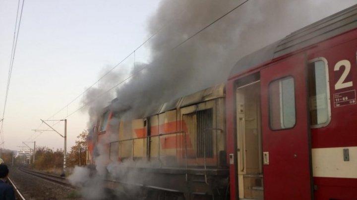 Locomotiva trenului Cluj - Viena, în flăcări. Călătorii au fost evacuați