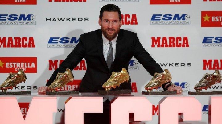 """Lionel Messi a primit trofeul """"Gheata de Aur"""" pentru a şasea oară în cariera sa"""