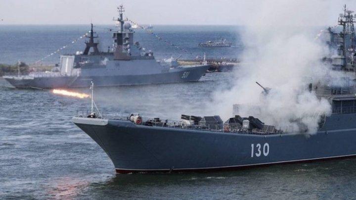 Rusia desfăşoară exerciţii militare de amploare în Marea Neagră