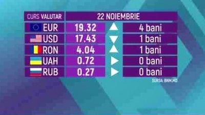 CURS VALUTAR 22 noiembrie. Leul pierde teren în faţa monedei unice europene