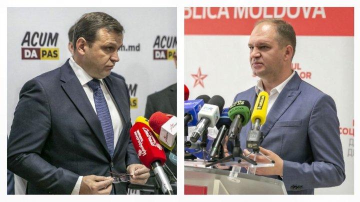 Schimb de amabilități dintre Ceban și Năstase. Răspunsul primarului ales pentru perdant