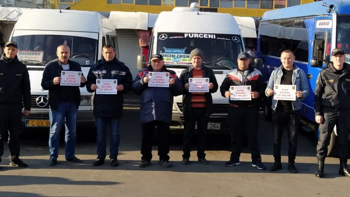 Șoferii rutelor interurbane susțin campania STOP ALCOOL (FOTO)