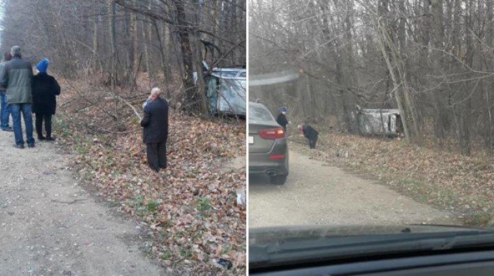 ACCIDENT GRAV la Orhei. O maşină S-A RĂSTURNAT şi a ajuns în pădure. Ce s-a întâmplat cu şoferul (FOTO)