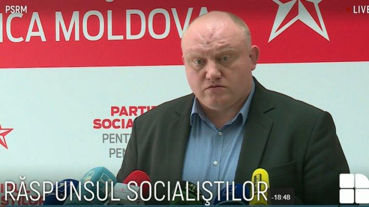 PSRM: Singura soluţie, Maia Sandu să-și retragă proiectul (VIDEO)