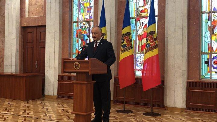 Șeful statului Igor Dodon invită fracțiunile parlamentare la discuții (VIDEO)