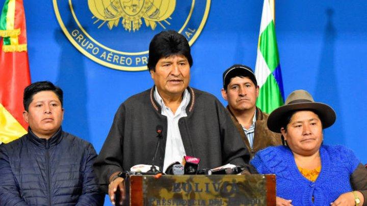 Preşedintele demisionar al Boliviei, Evo Morales, a primit azil politic în Mexic