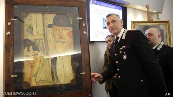 Poliţia italiană a descoperit un atelier care falsifica tablouri de Modigliani