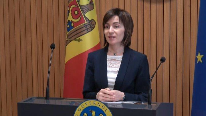 Maia Sandu a ţinut ultimul discurs de la tribuna Guvernului
