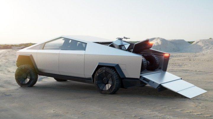 Tesla anunţă Cybertruck, prima sa maşină electrică pick-up, cu un design desprins din filmele SF